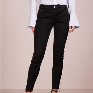 Micheal kors mid rise skinny jeans with ankle zip